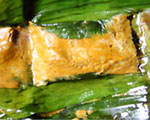 Homok A desicious curry-fish paste in banana leaf