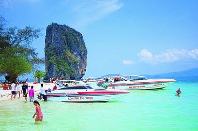 Koh Phi Tour Sdboat Tours Hotels Island Krabi Thailand