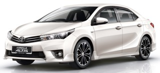 Krabi All Seasons Car Rent offers Competitive Prices Toyota Altis