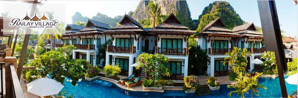 Railay village resort tropical bungalows resort railay for Design hotel krabi